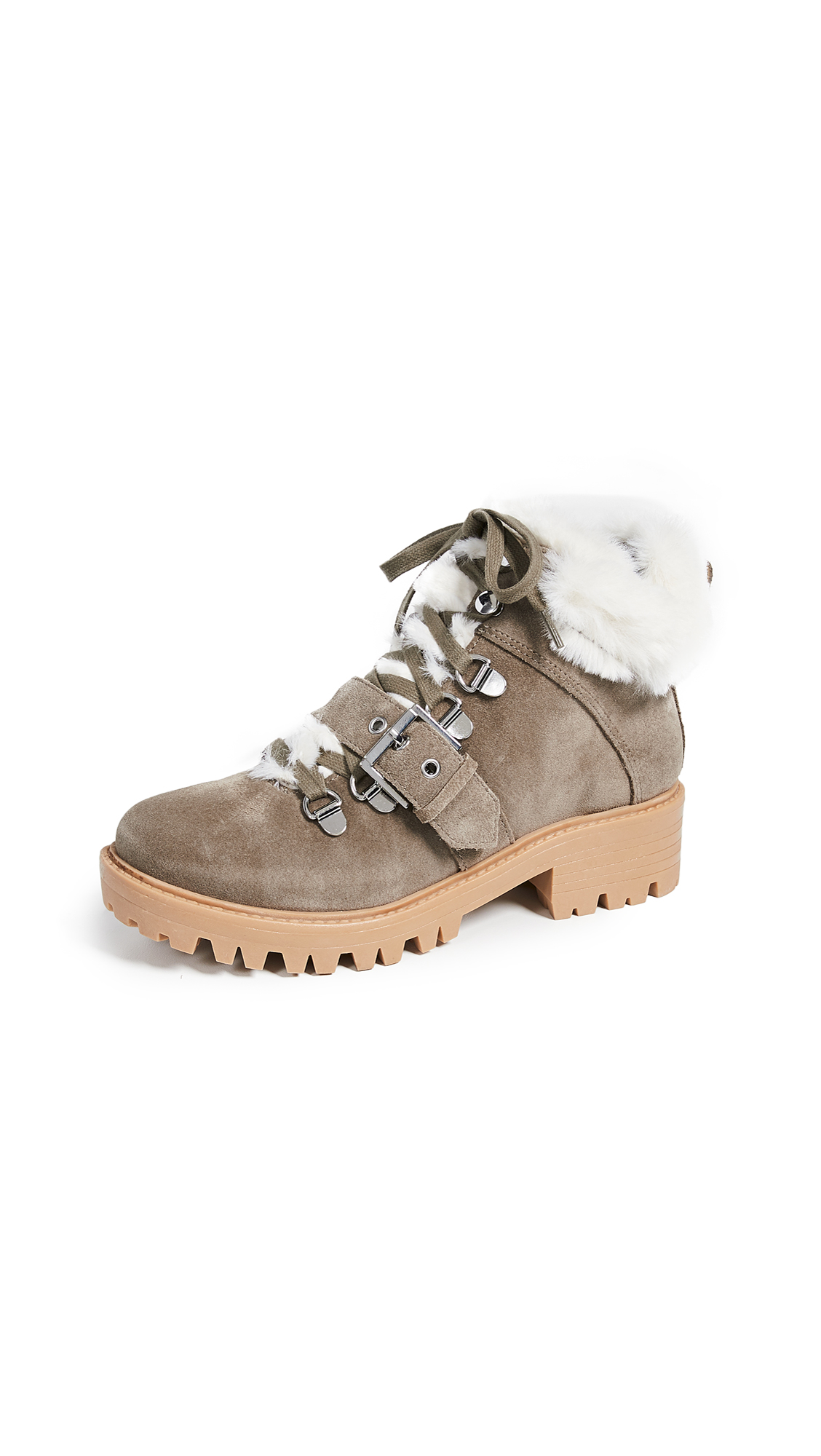KENDALL + KYLIE Edison Combat Boots - Natural Multi