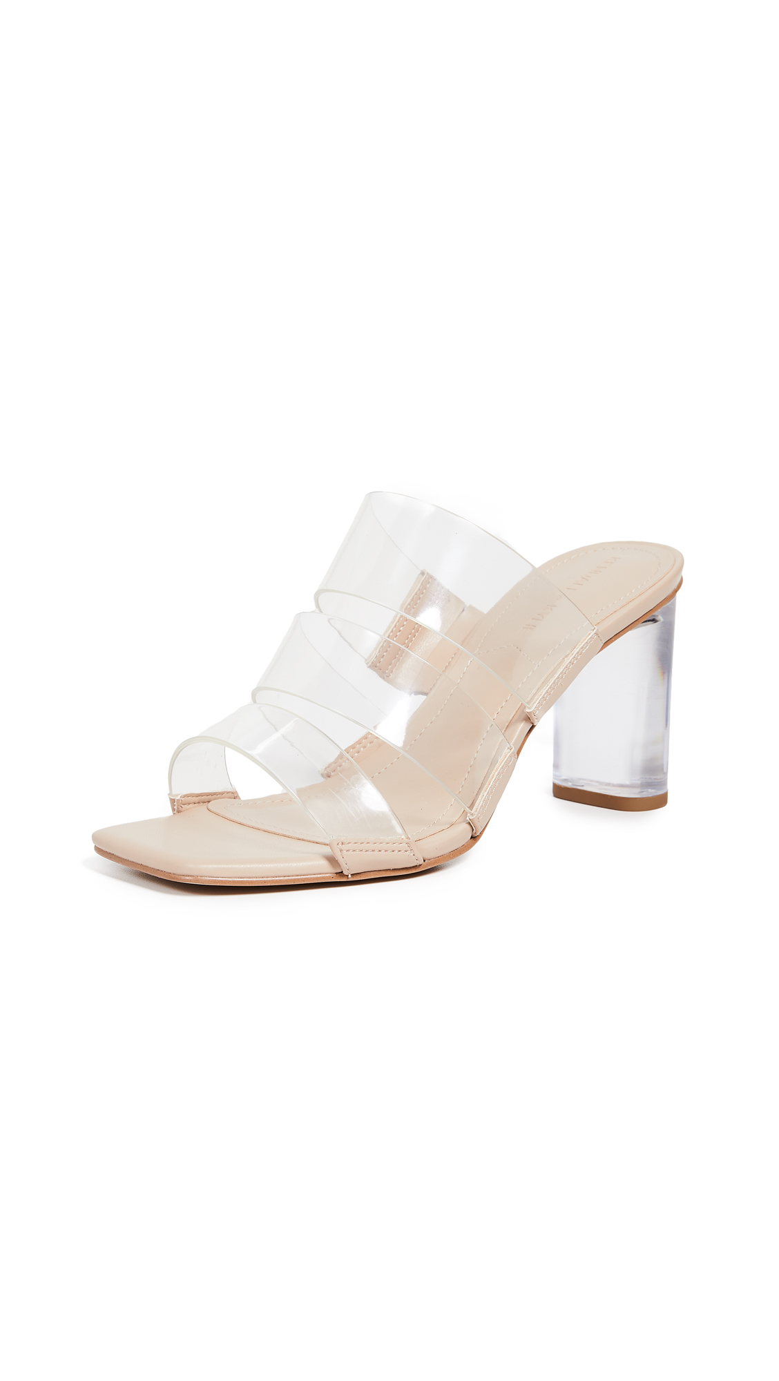 KENDALL + KYLIE Leila Slides - Clear/Nude