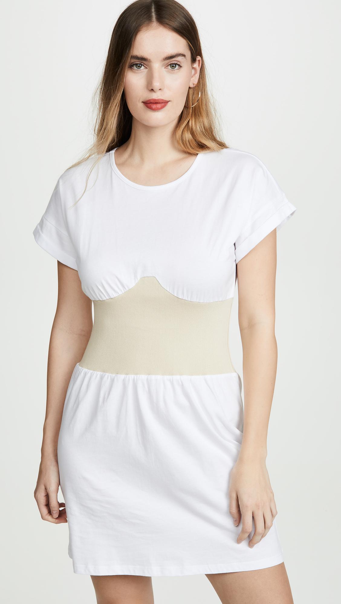 e817b9c83af KENDALL + KYLIE Corset T-Shirt Dress