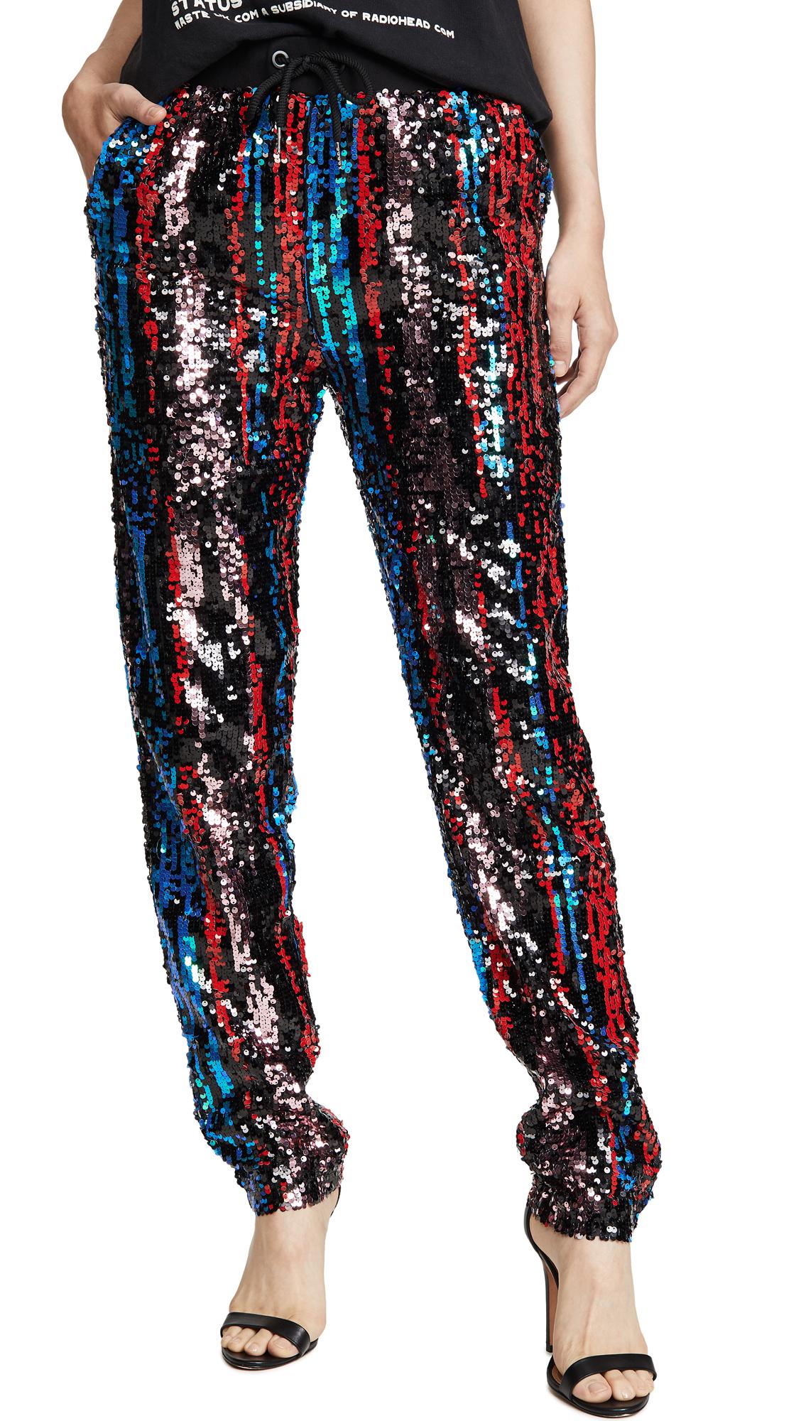 Kendall + Kylie Studio 54 Pants In Pop Art Sequin