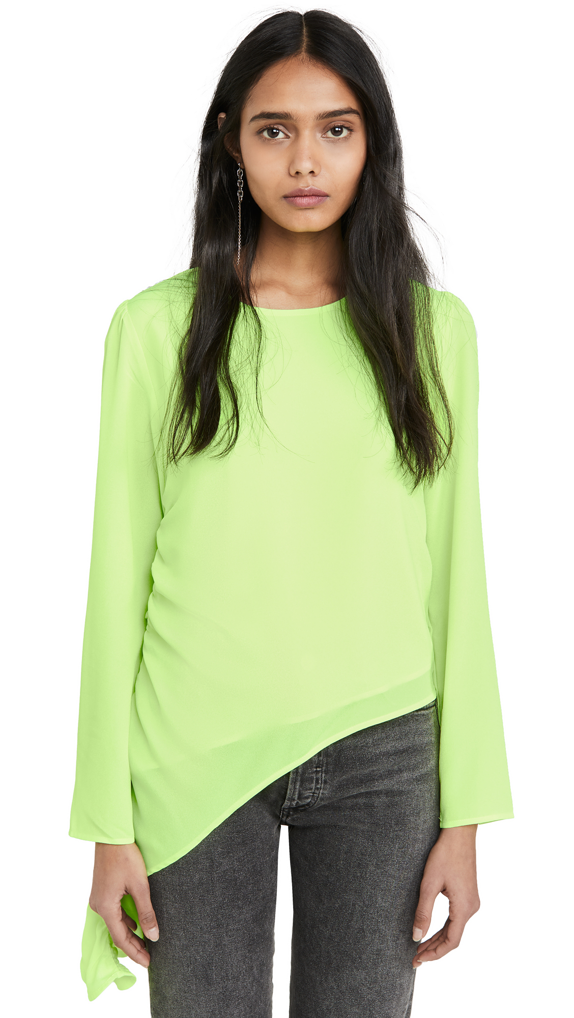 Buy KENDALL + KYLIE online - photo of KENDALL + KYLIE Cascading Ruffle Top