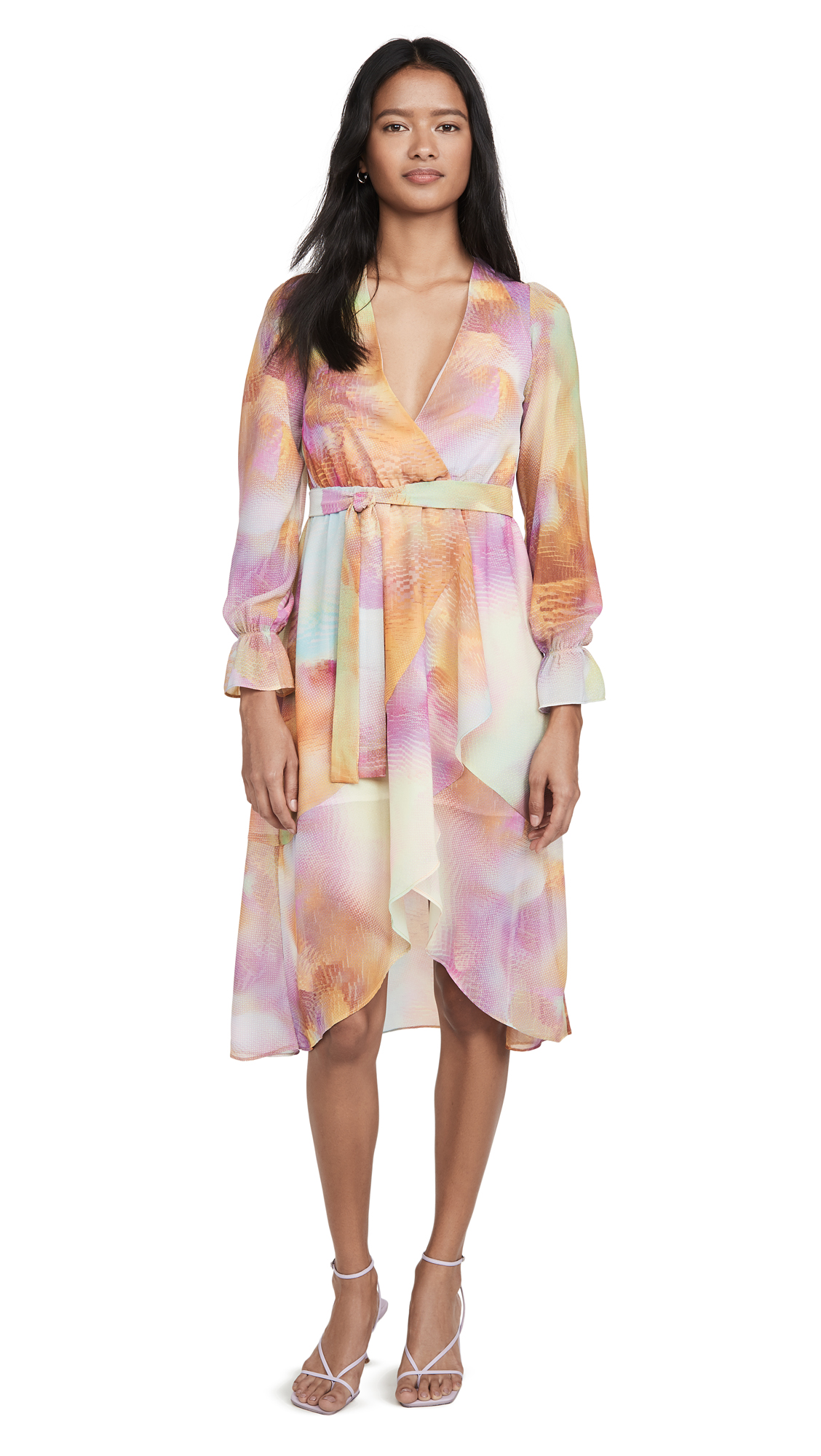 Buy KENDALL + KYLIE online - photo of KENDALL + KYLIE Front Wrap Duster Dress