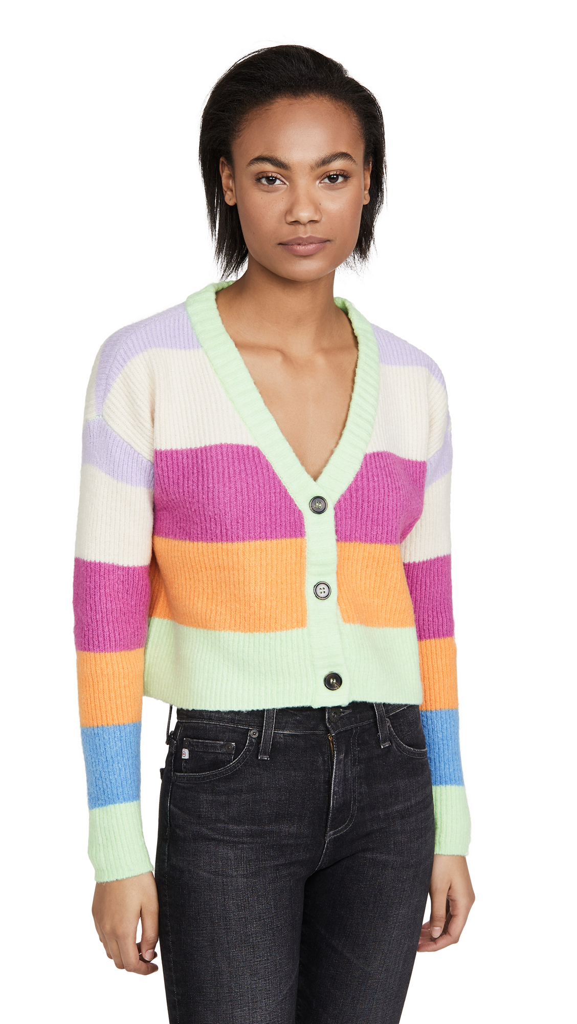 Buy KENDALL + KYLIE online - photo of KENDALL + KYLIE Striped Sweater
