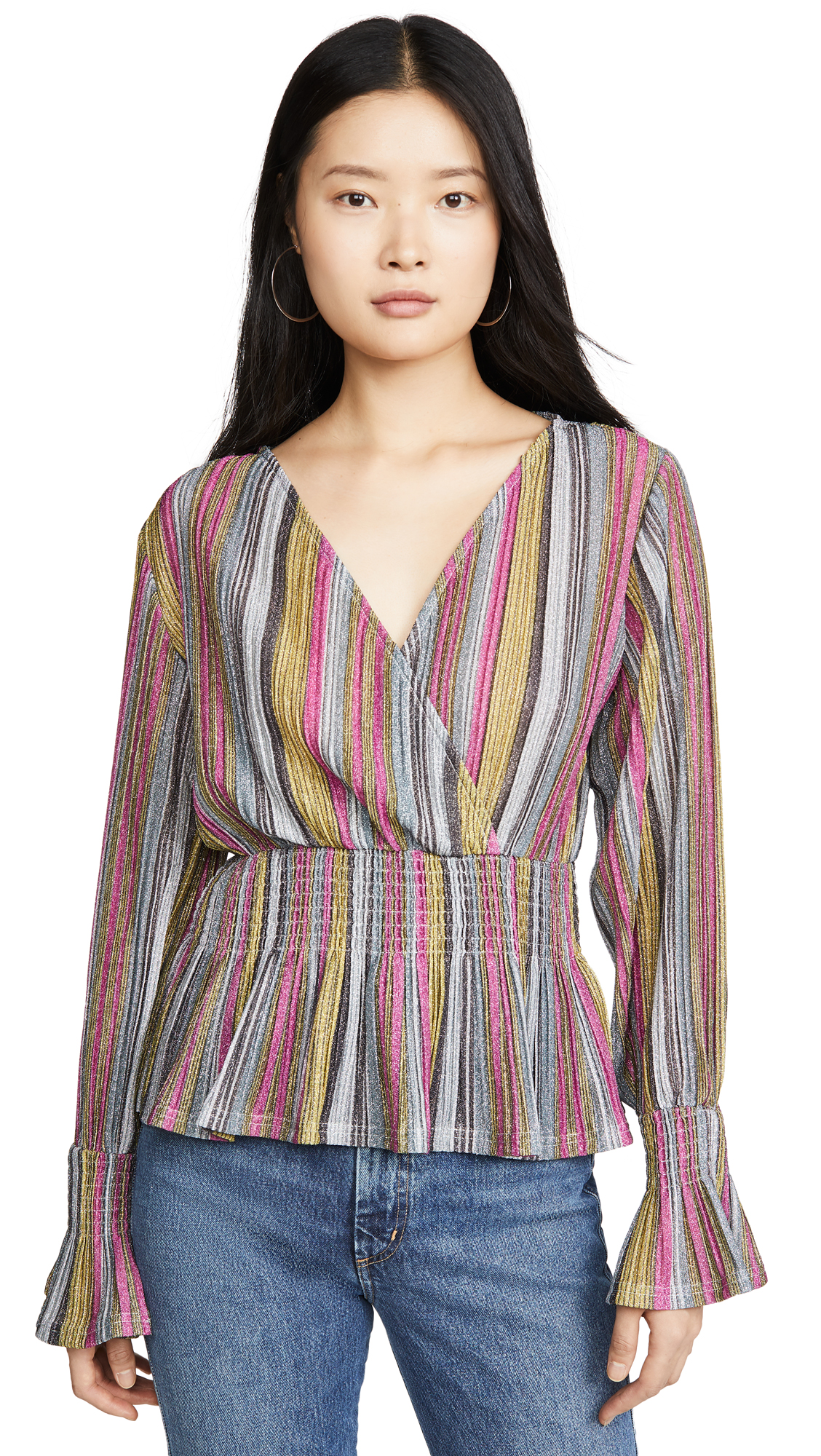 Buy KENDALL + KYLIE online - photo of KENDALL + KYLIE Smocked Waist Top