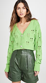 KENDALL + KYLIE Ripped Knit Cropped Cardigan