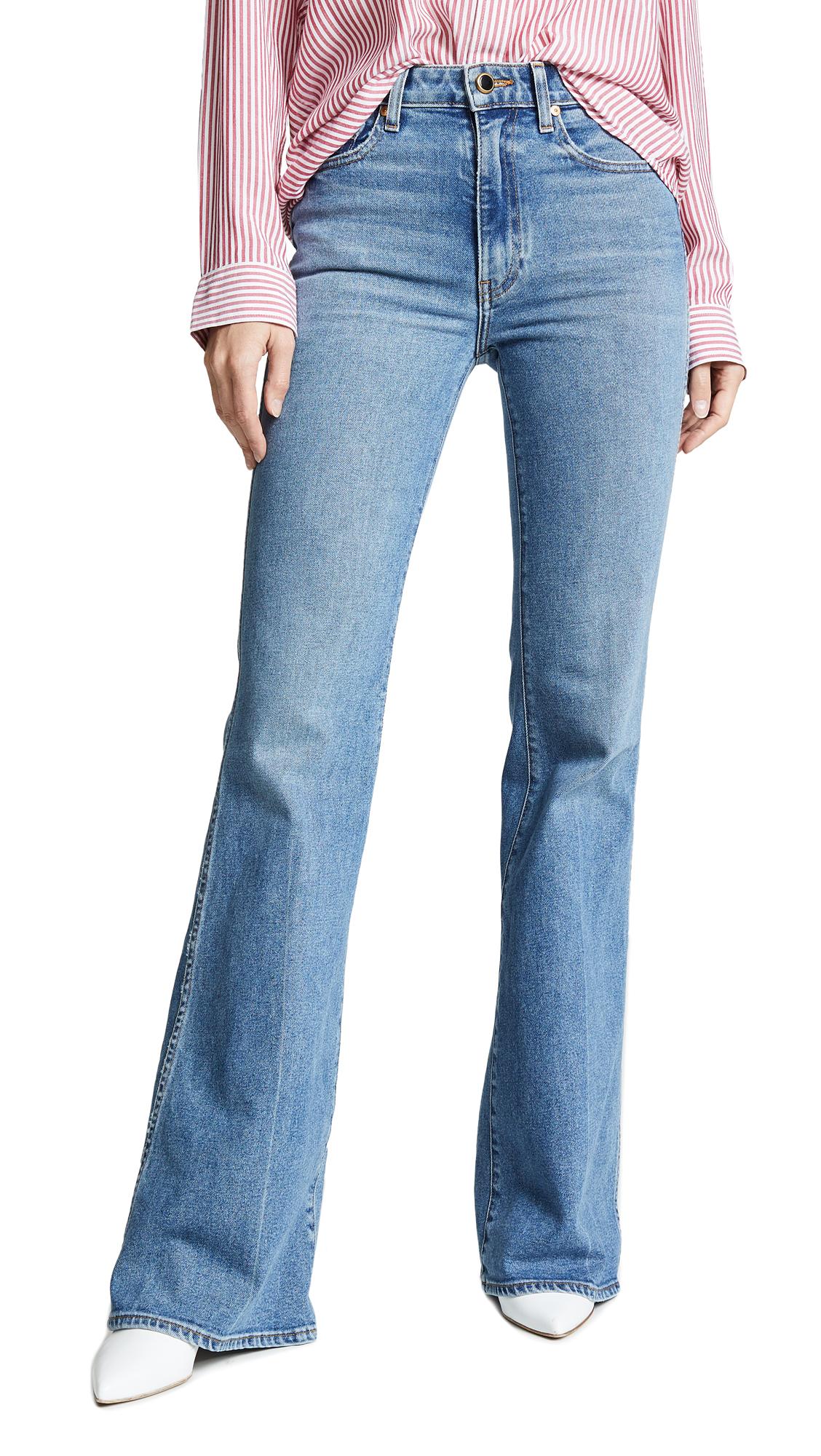 Khaite Reece Flare Jeans In Vintage Blue