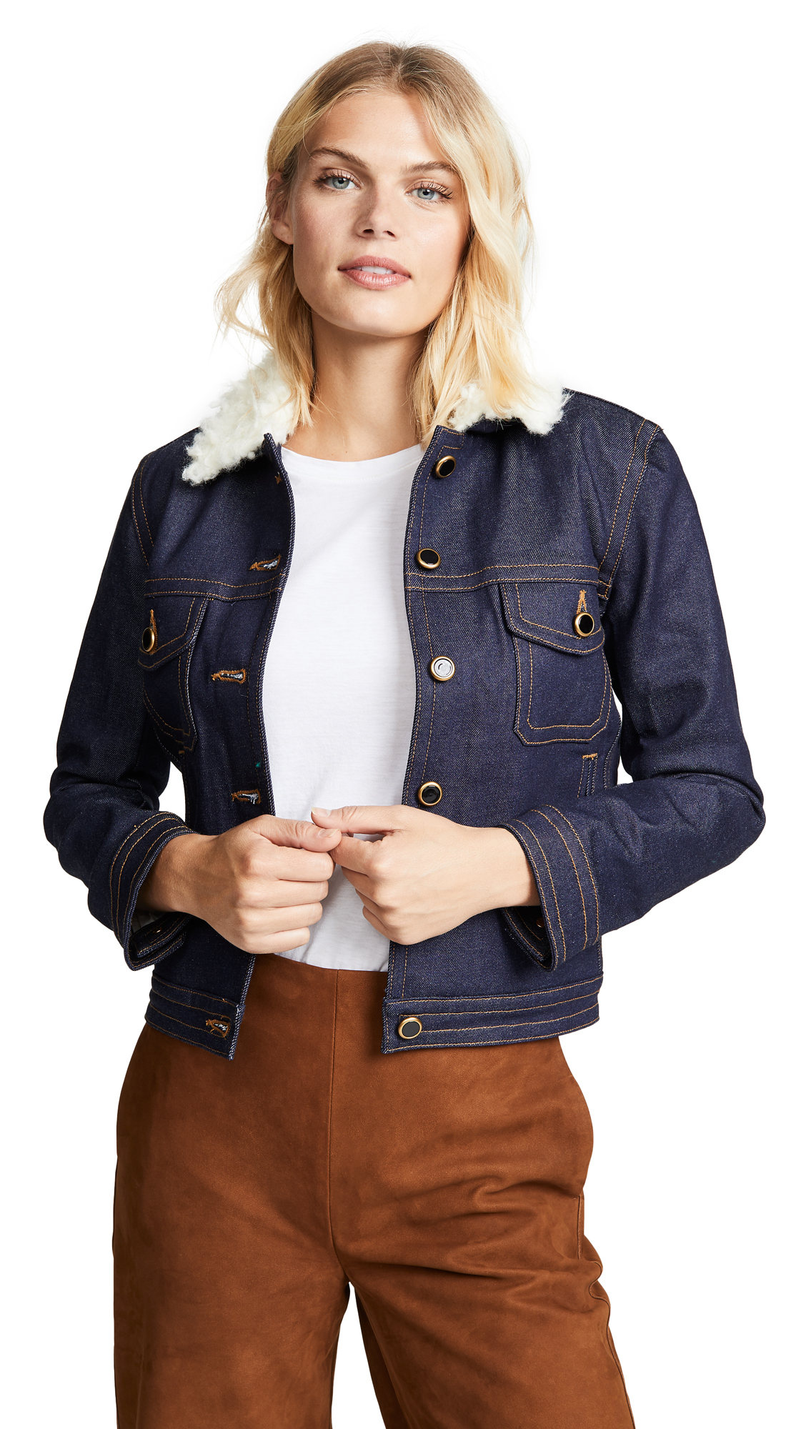 Khaite Sherpa Laura Jacket In Raw