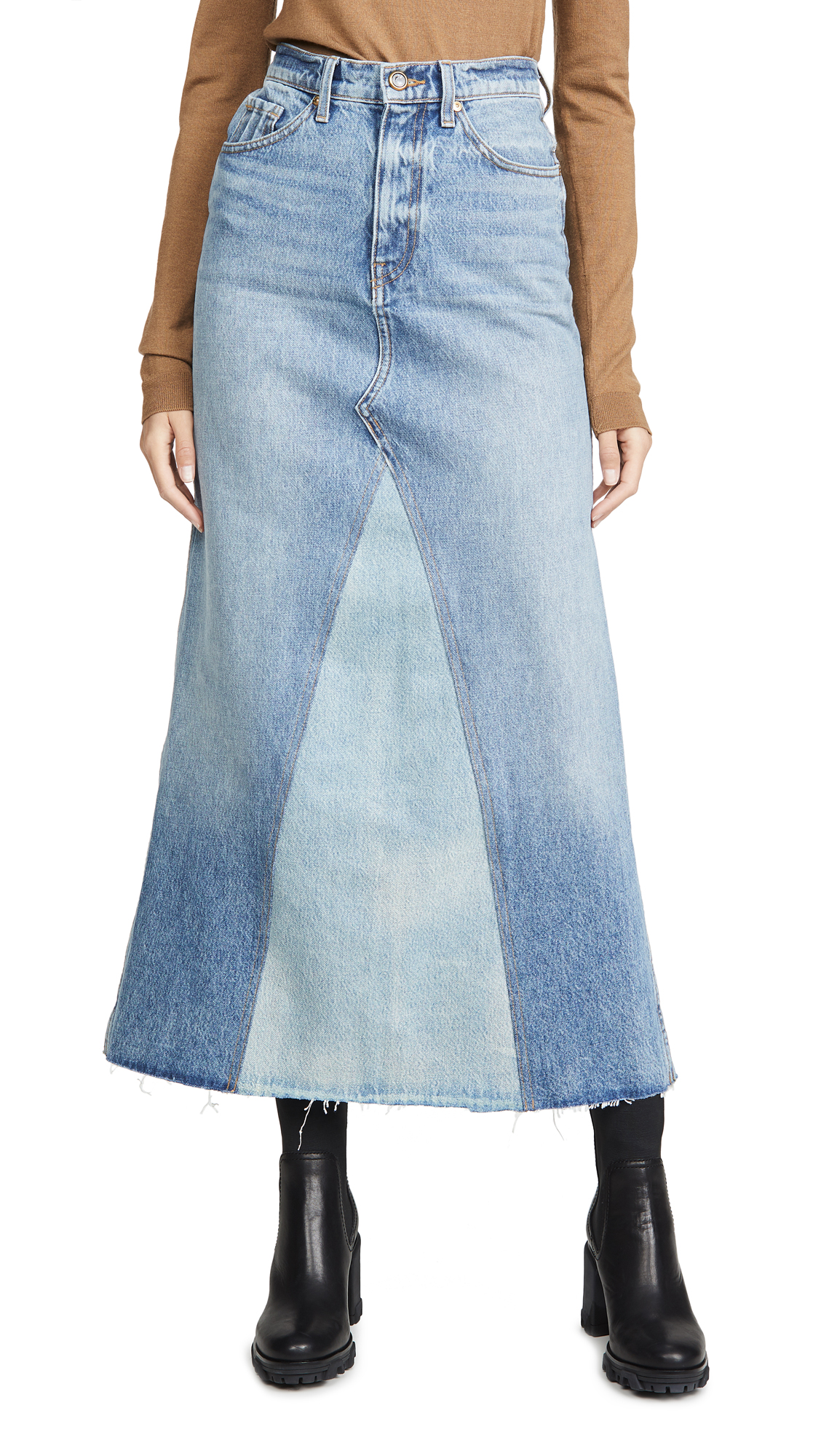 Khaite Magdalena Reconstructed Long Skirt