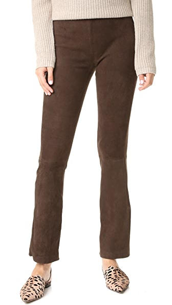 Kobi Halperin Laci Stretch Suede Pants - Chocolate