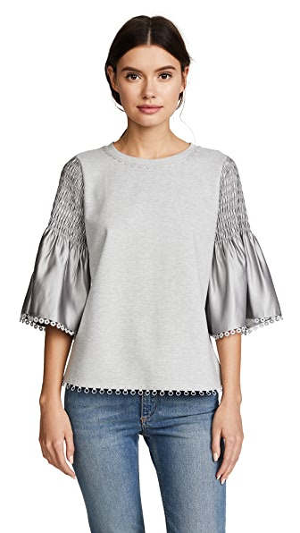 Kobi Halperin Anandah Blouse In Light Grey Melange