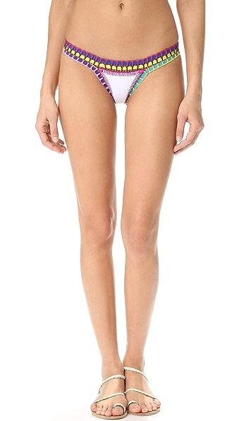 Kiini Yaz Bikini Bottoms - White/Multi
