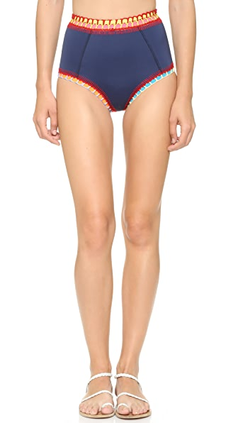 Kiini Tasmin High Waisted Bikini Bottoms - Navy/Multi