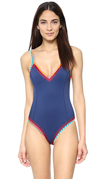 Kiini Tasmin Scoop Back Maillot - Navy/Multi