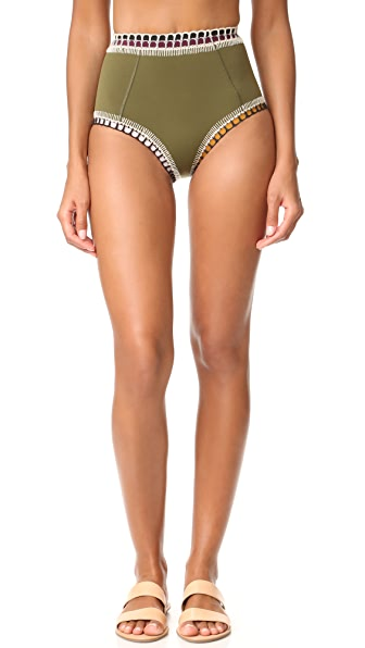 Kiini Wren High Rise Bottoms In Olive/Multi