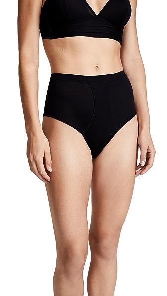 Kiki De Montparnasse High Waisted Panties In Black