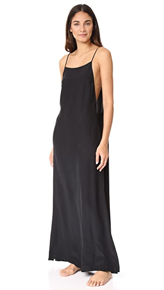 Kiki De Montparnasse Square Neck Long Slip In Black