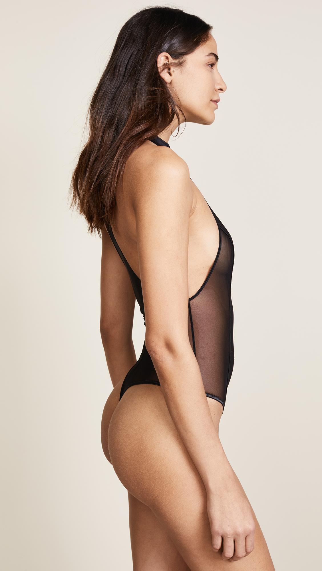 Kiki De Montparnasse High Neck Thong Bodysuit  97d8f851c