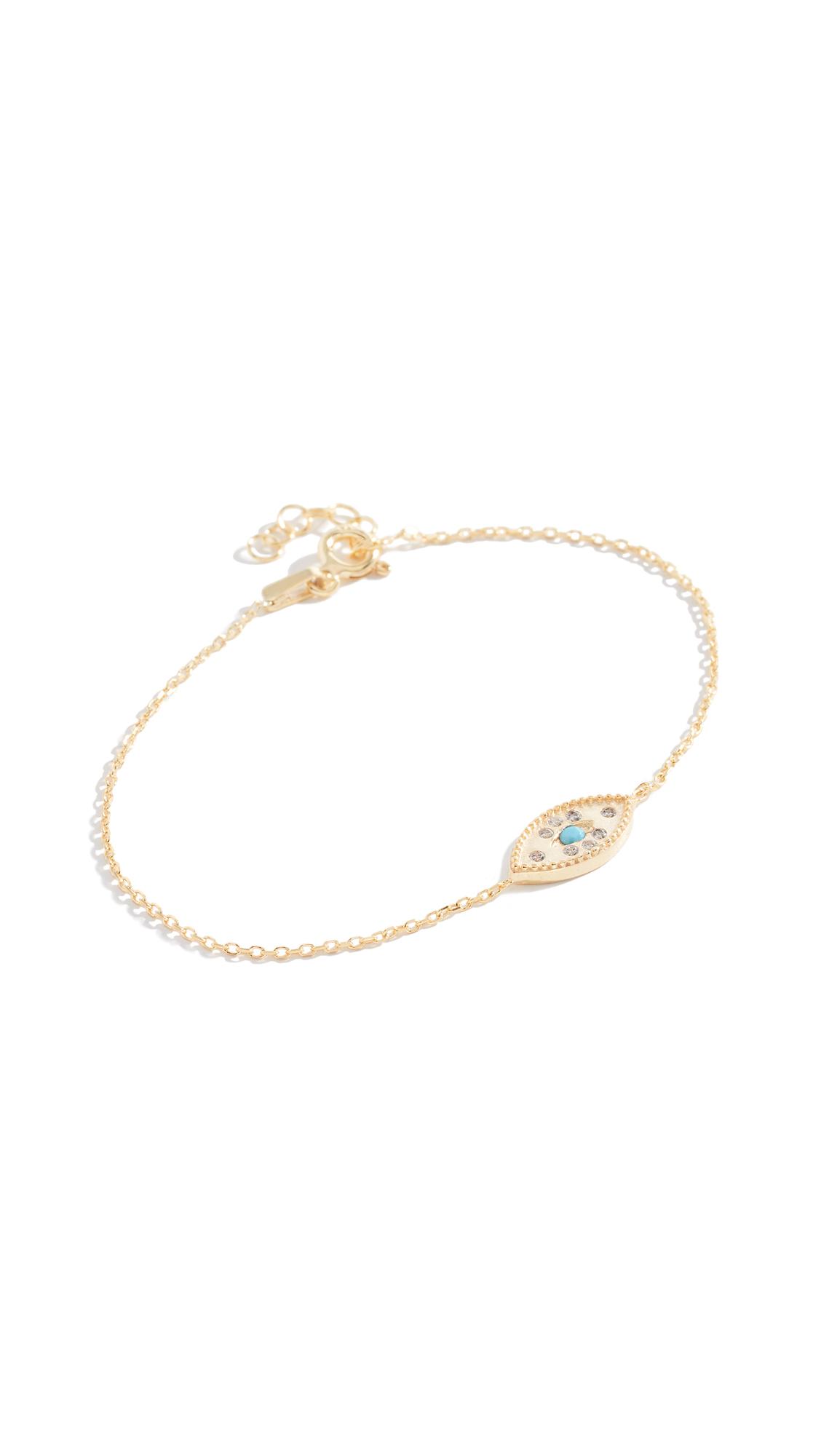 KINDRED Evil Eye Bracelet in Yellow Gold