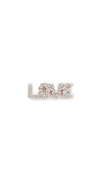 Kismet by Milka 14k Rose Gold Love Stud Single Earring