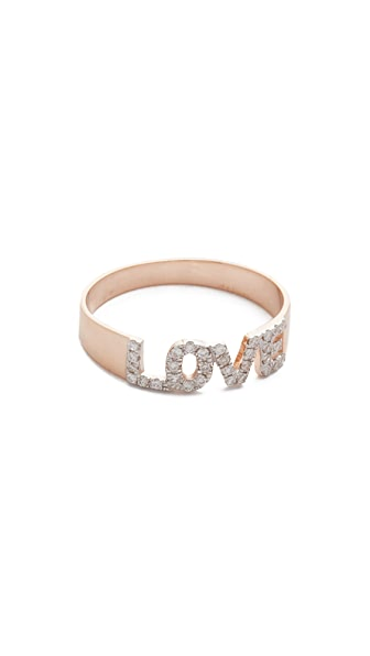 Kismet by Milka 14k Gold Love Ring - Rose Gold/Clear