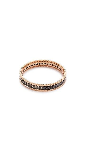 Kismet by Milka 14k Gold Tricolor Diamond Eternity Ring