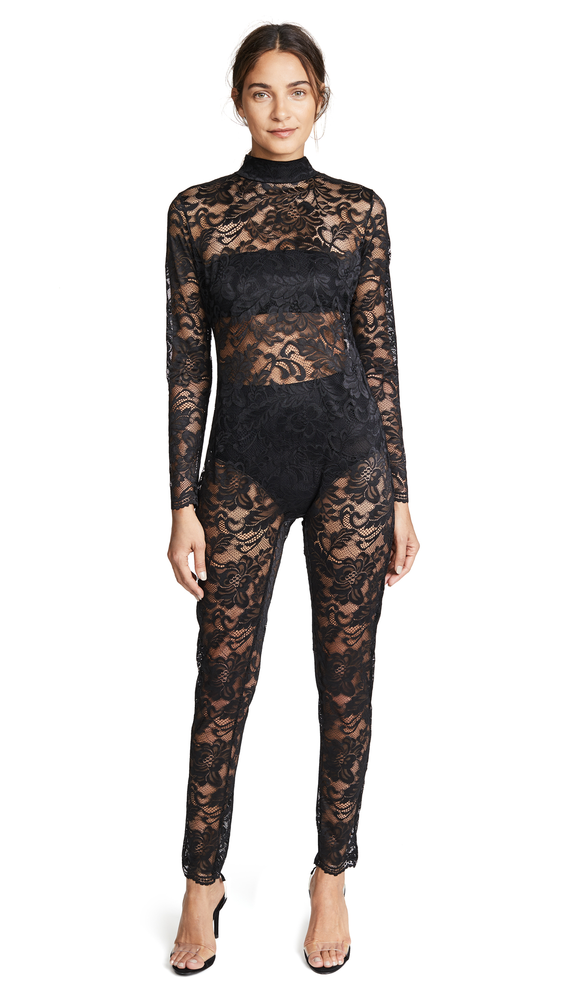 KISSKILL Lace Catsuit In Black