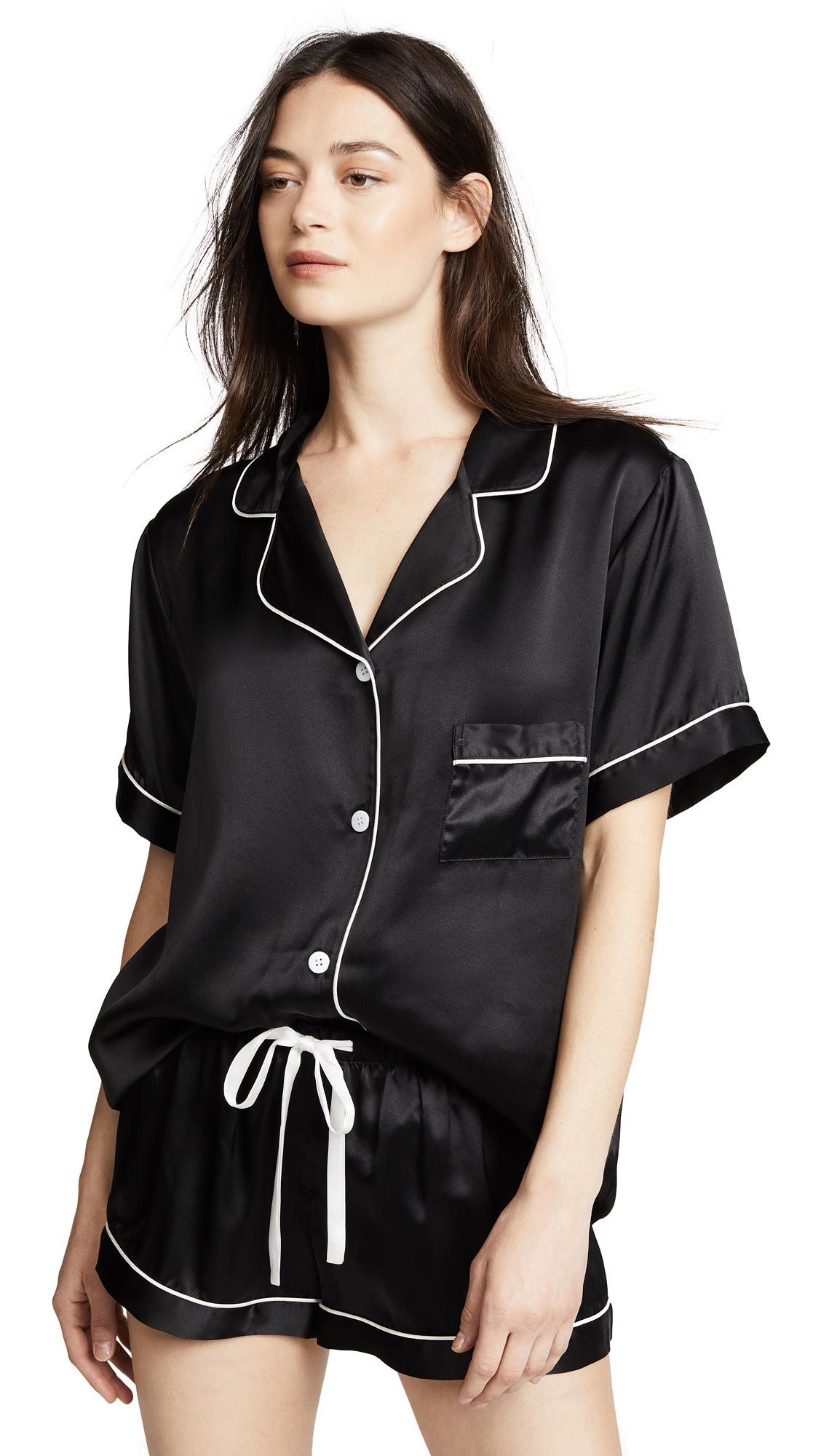 KISSKILL Silk Short Pj Set in Black