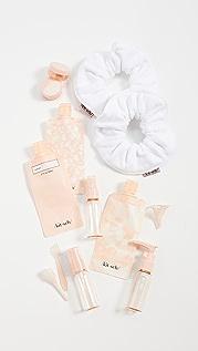 Kitsch Travel Set Blush x White Towel Scrunchie