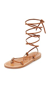 K. Jacques Гладиаторские сандалии Bikini с завязками