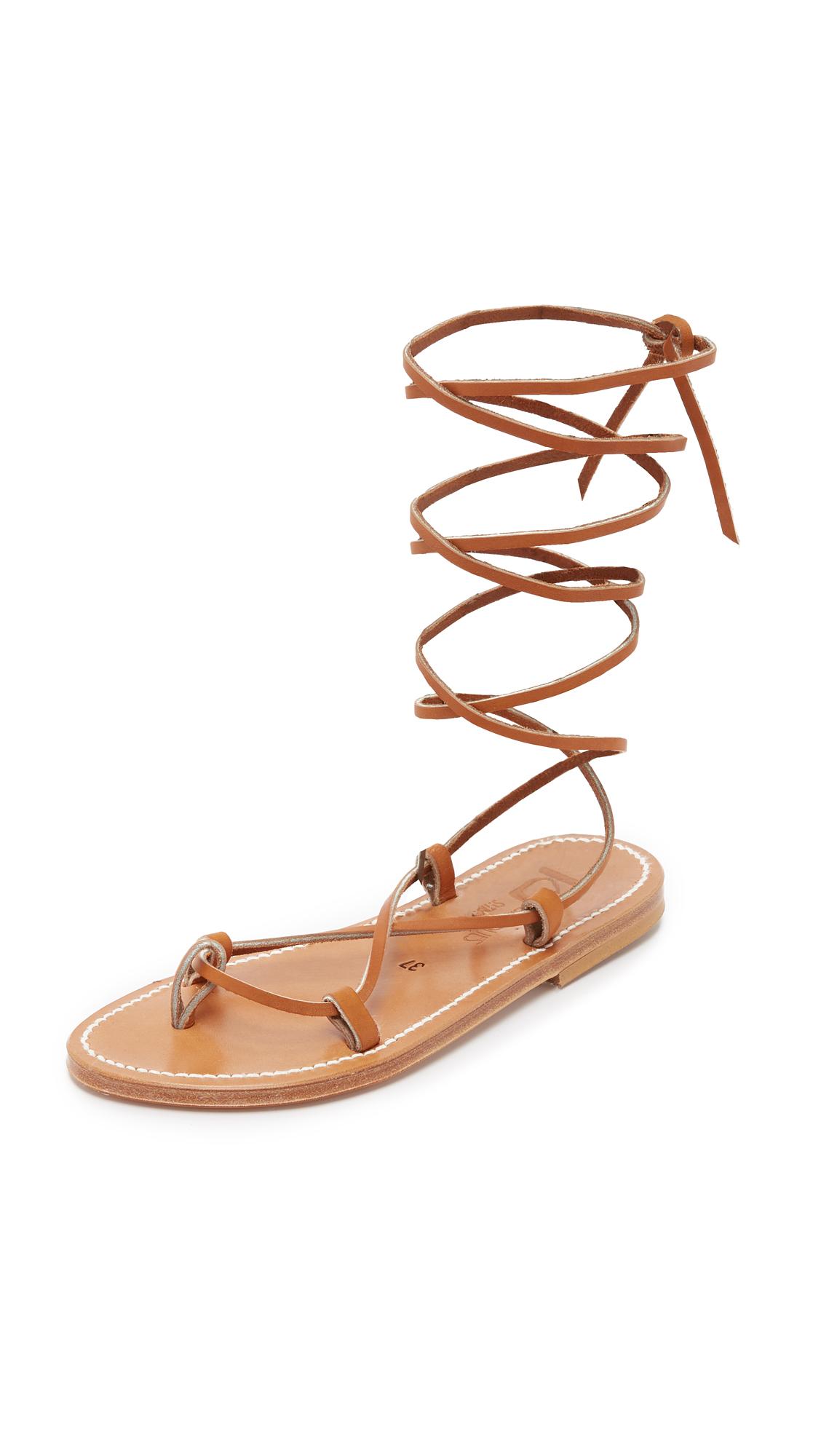0fd325790f6 K. Jacques Bikini Wrap Gladiator Sandals