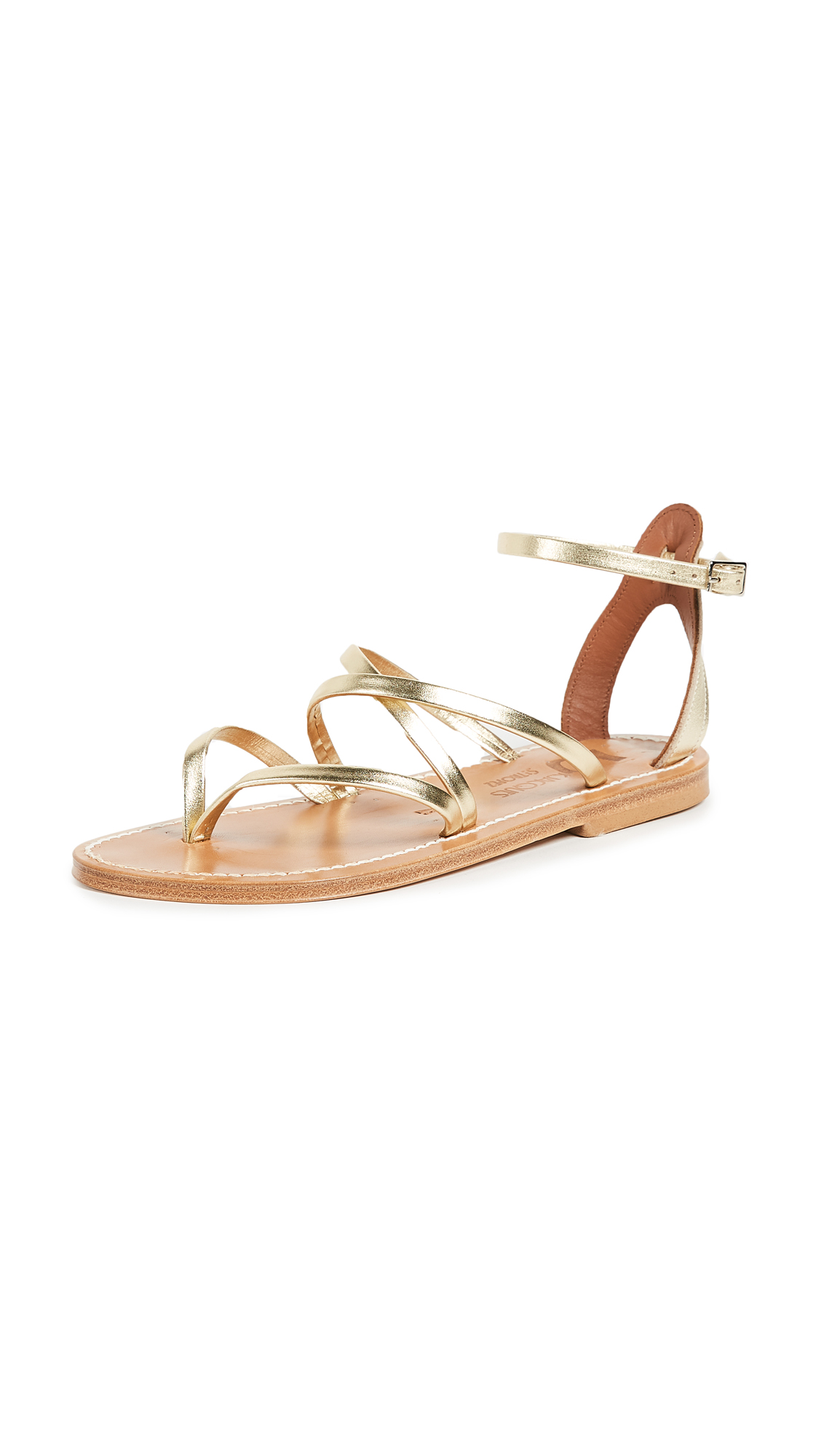K. Jacques Epicure Sandals - Lame Platine