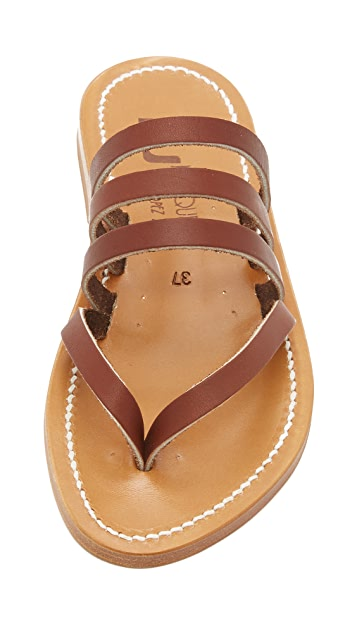 K. Jacques Sycamore Slide Sandals