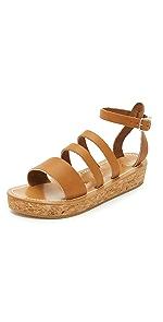 Clairval Flatform Sandals                K. Jacques