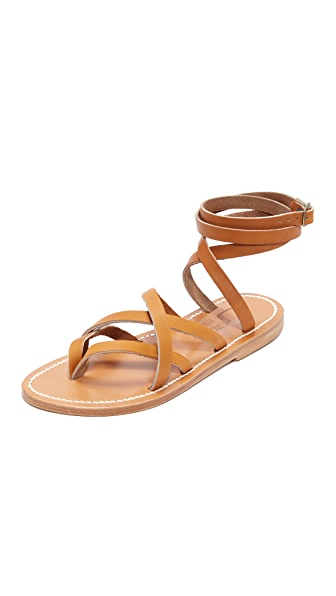 K. Jacques Zenobie Wrap Sandals - Pul Natural