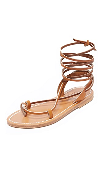 K. Jacques Lucile Wrap Sandals - Pul Natural