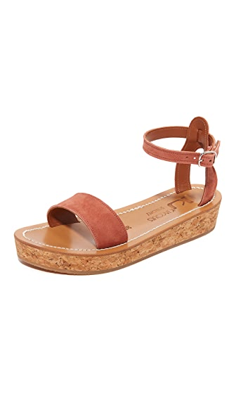 K. Jacques Talloire Flatform Sandals - Velours Gilly