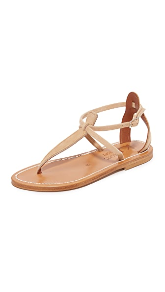 K. Jacques Buffon Thong Sandals - Velours Sultan
