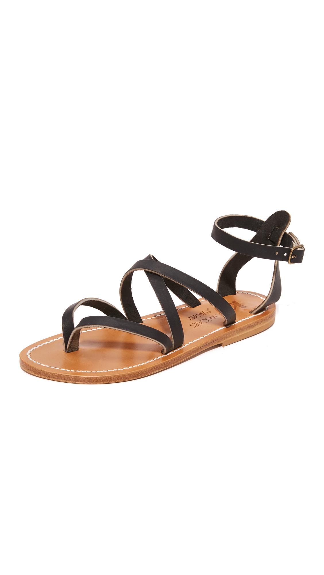 K. Jacques Epicure Sandals - Pul Noir