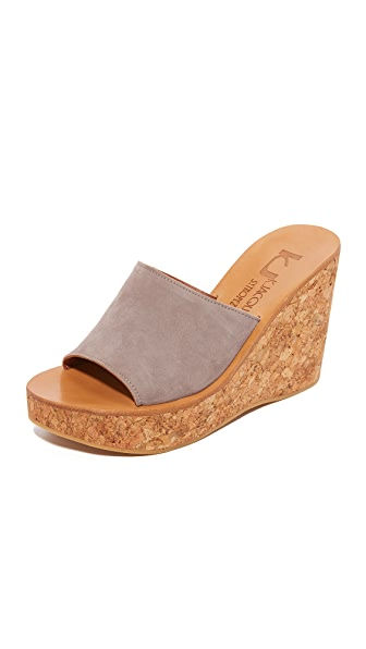 K. Jacques Timor Wedge Sandals - Velours Amande
