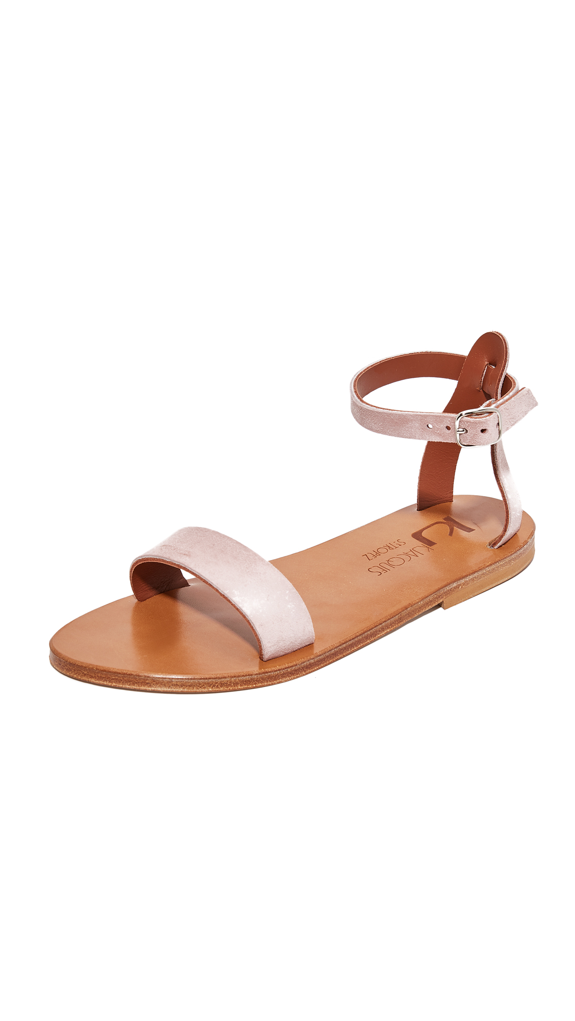 K. Jacques Pampa Sandals - Velours Winter Rose