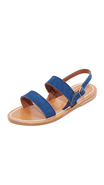 K. Jacques Barigoule Sandal - Velours Bleu
