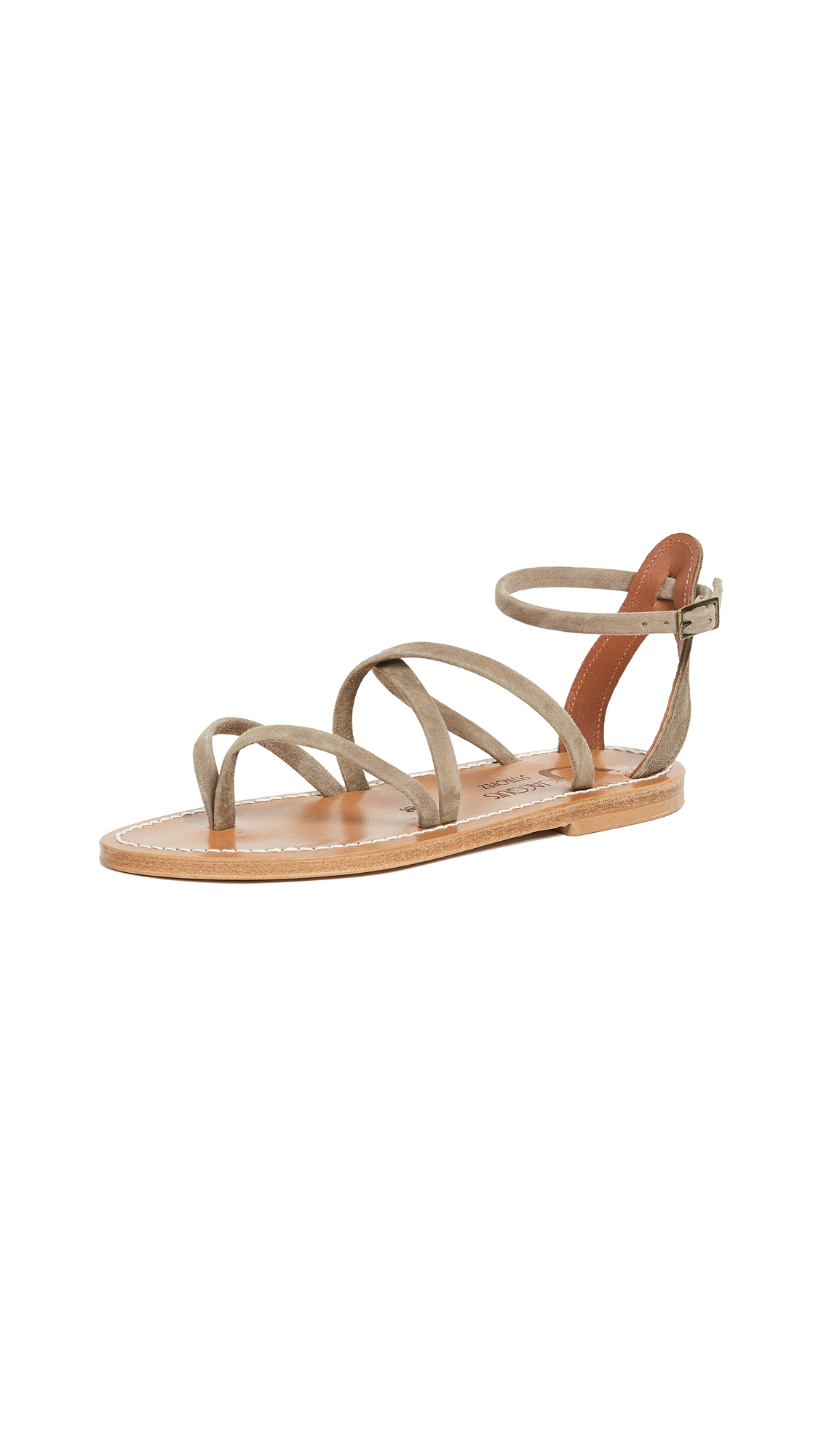 K. Jacques Epicure Sandals - Velours Fango