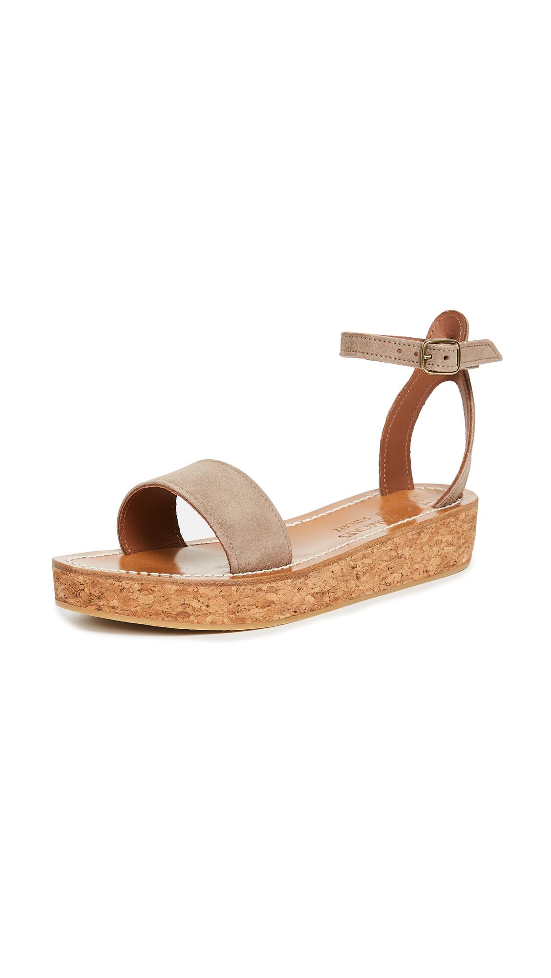 K. Jacques Talloire Flatform Sandals - Velours Luxor