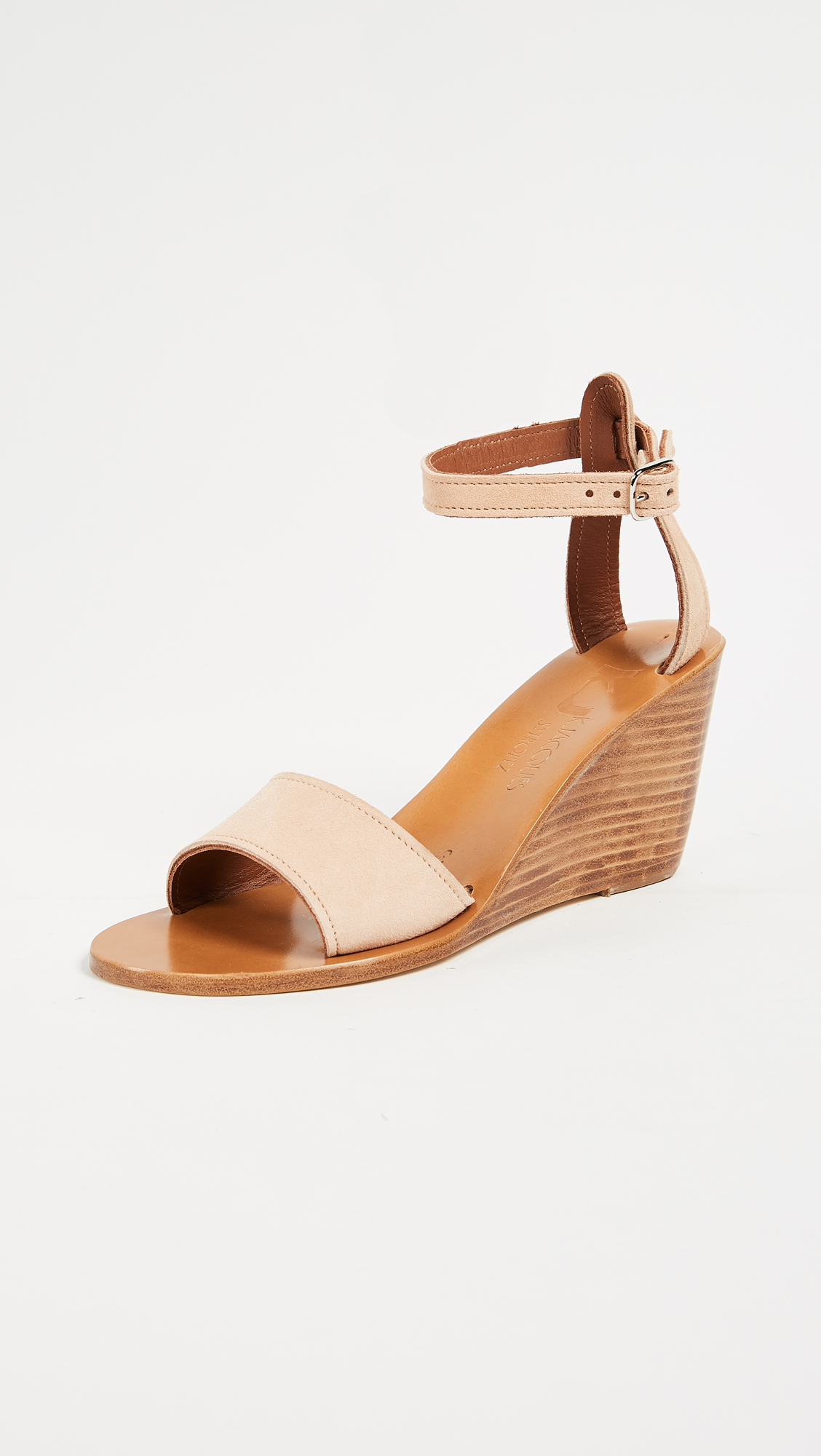 K. Jacques Sardaigne Wedges - Velours Make Up