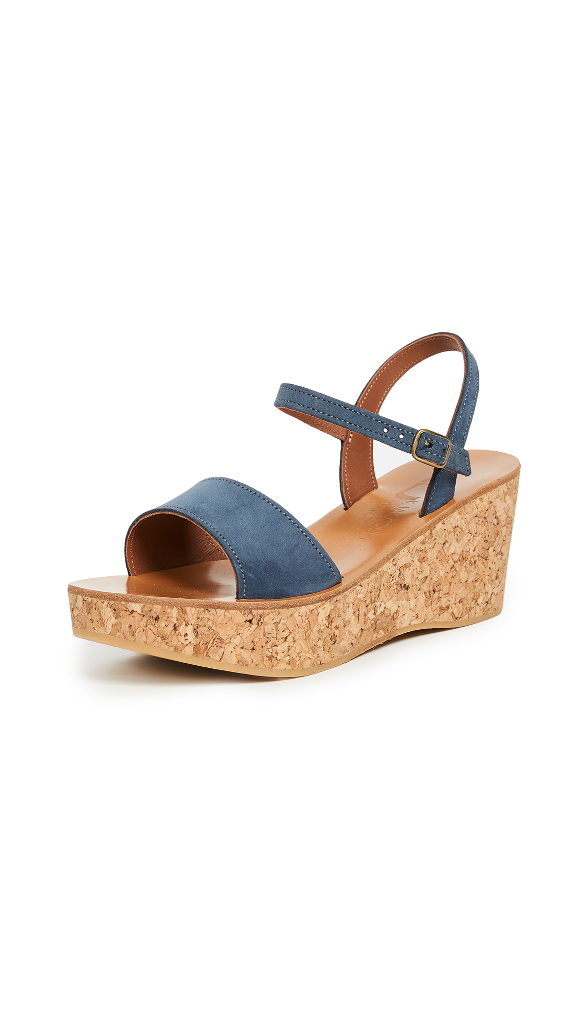 K. Jacques Josy Wedge Sandals - Nubuck Chine