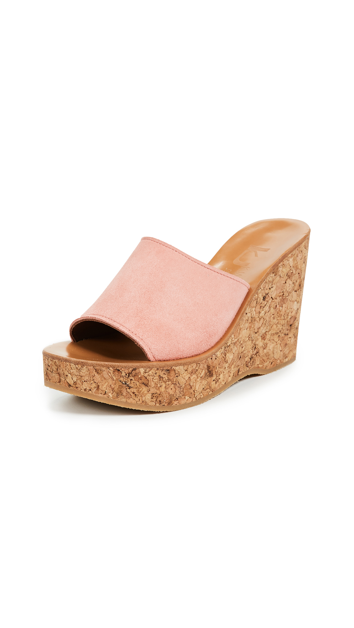 K. Jacques Timor Wedge Sandals - Velours Camelia