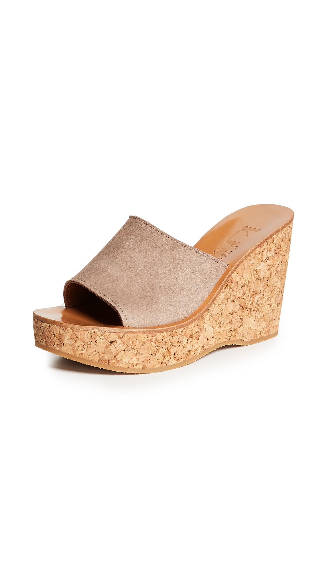 K. Jacques Timor Wedge Sandals - Velours Luxor