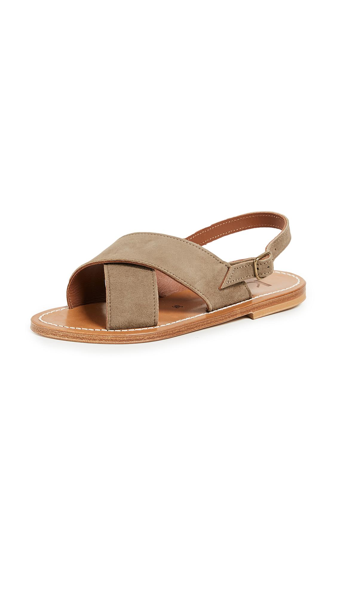 K. Jacques Osorno Crisscross Sandals - Velours Fango