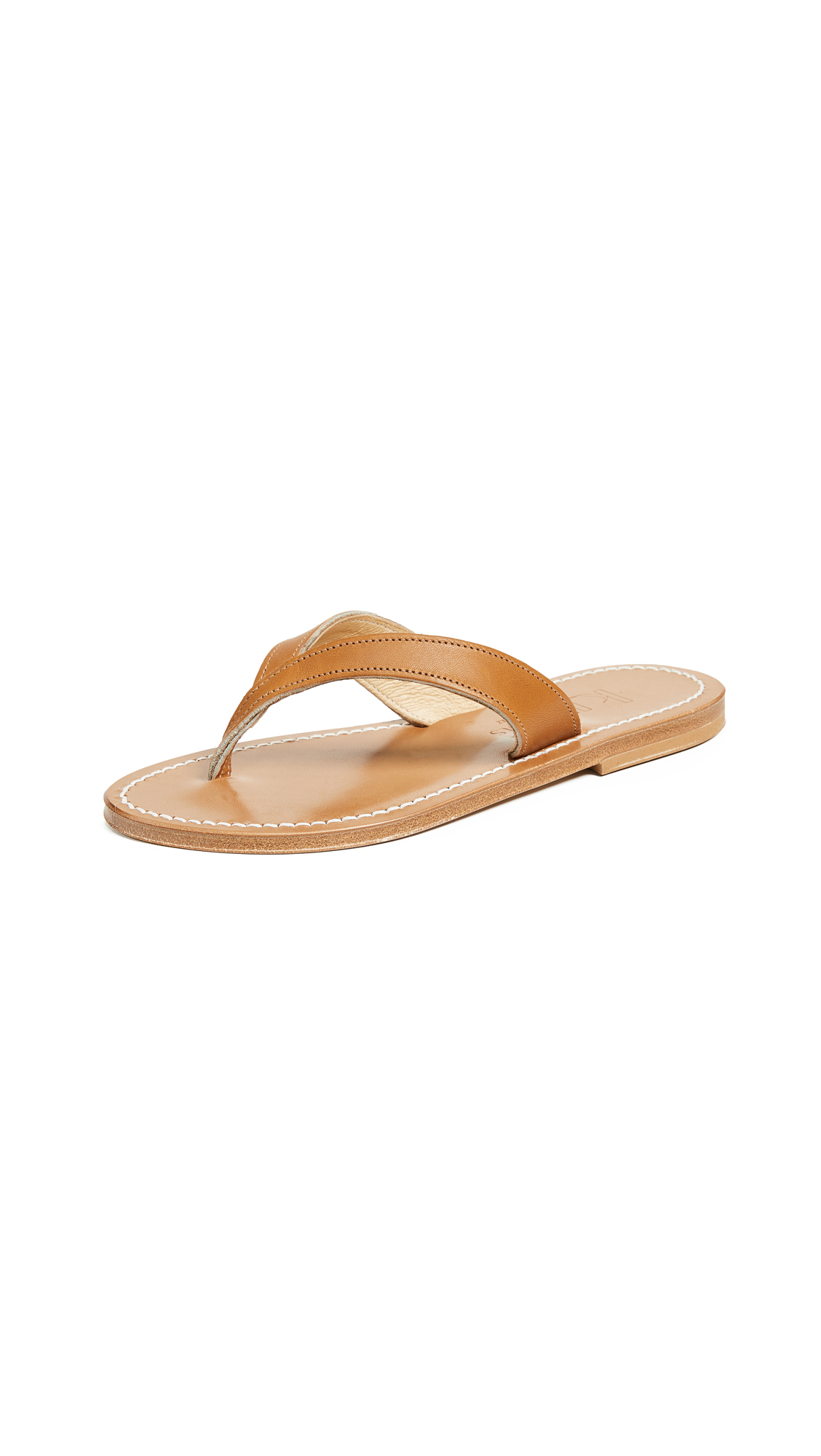 K. Jacques Popee Thong Sandals - Pul Naturel