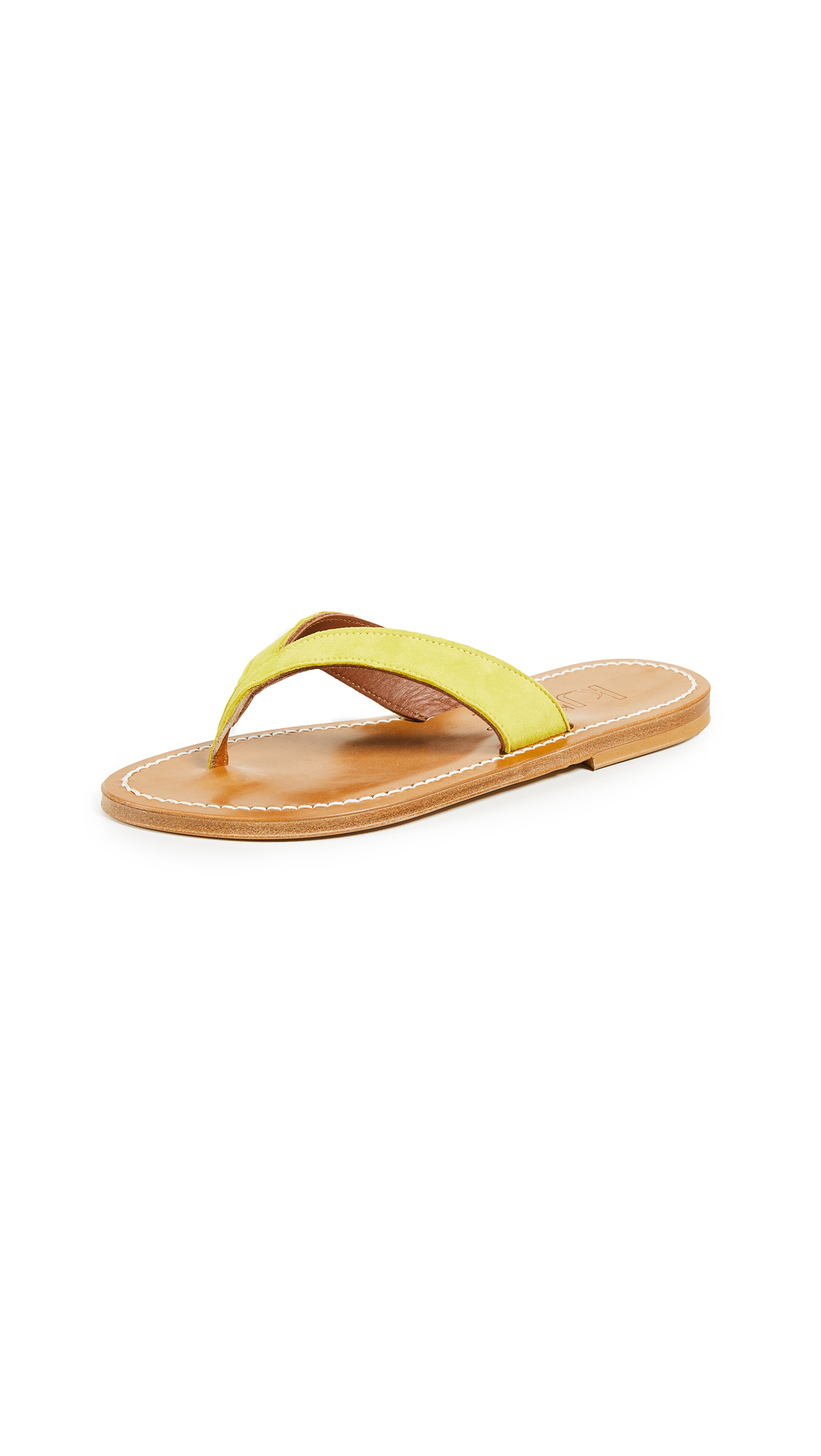 K. Jacques Popee Thong Sandals - Velours Amarillo